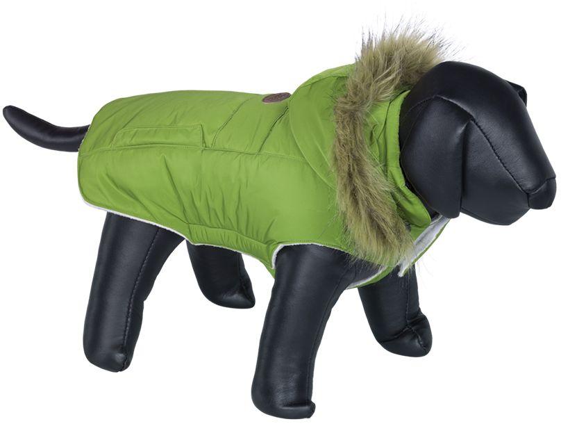 Nobby ELNA bunda pro psa s kožíškem zelená 32cm