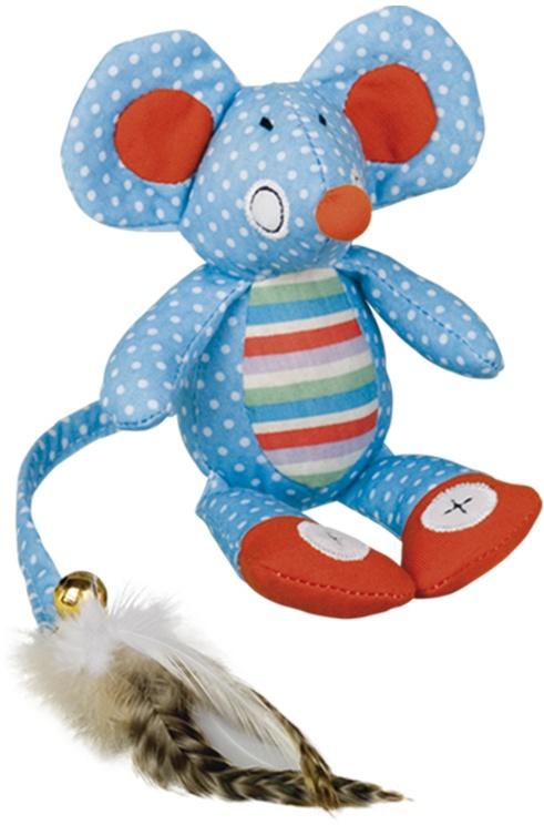 Nobby hračka pro kočky plochá myška modrá 18cm