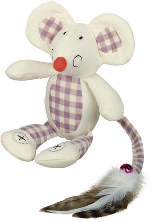 Nobby hračka pro kočky plochá myška krémová 18cm