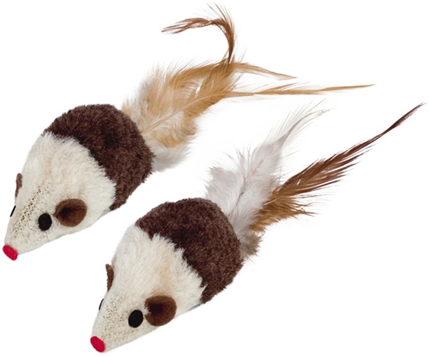 Nobby hračka pro kočky plyšové myšky 2ks 7cm