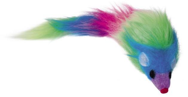 Nobby hračka pro kočku barevná myš 20cm