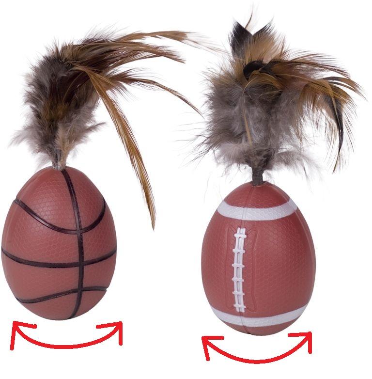 Nobby hračka pro kočky stojící míč 13cm 2ks