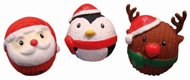 Nobby vánoční hračka míček 8-9cm 1ks