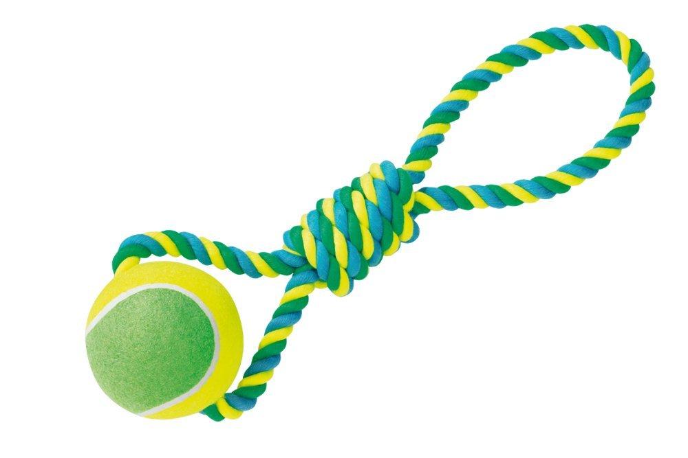 Nobby hračka XXL pro psy tenisák 12cm s lanem