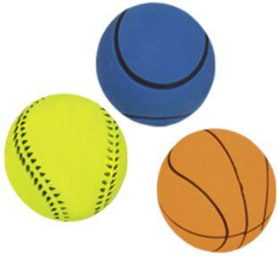 Nobby hračka pro psy míč mechová guma 7,2cm 3ks