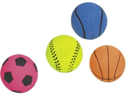 Nobby hračka pro psy míč mechová guma 5,7cm 4ks