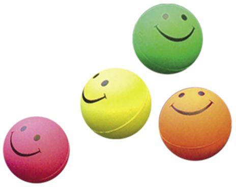 Nobby hračka pro psy míč smajlík 4,7cm 4ks