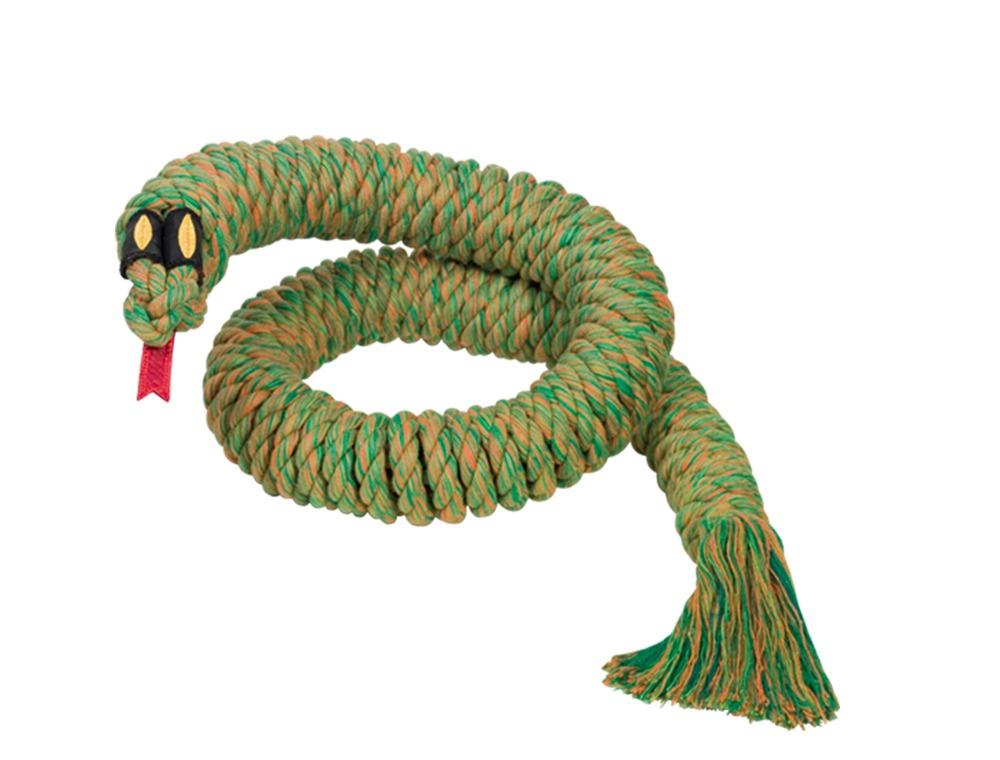 Nobby Snake Large hračka lano na hraní zelená 115cm