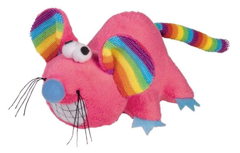 Nobby RAINBOW hračka plyšová myš 14cm