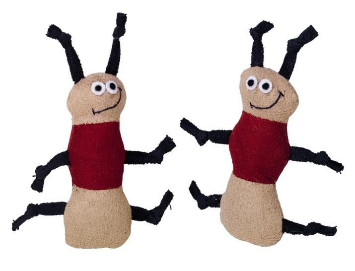 Nobby Worms hračka plyšový červíci 7,5cm 2ks