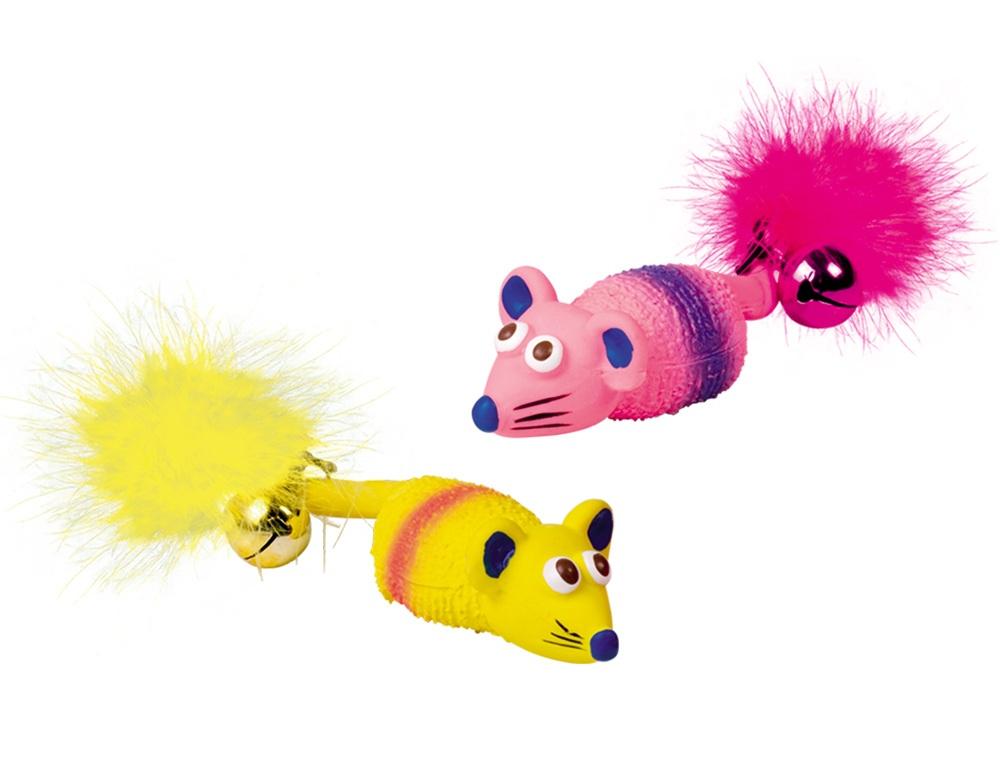 Nobby hračka latexová myš s rolničkou 2ks 11cm