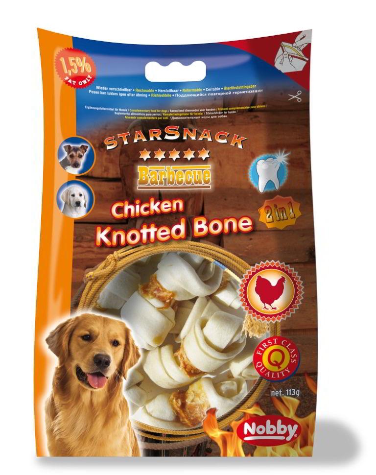 Fotografie Starsnack Barbecue Chicken Knotted Bone kost kuřecí 113g