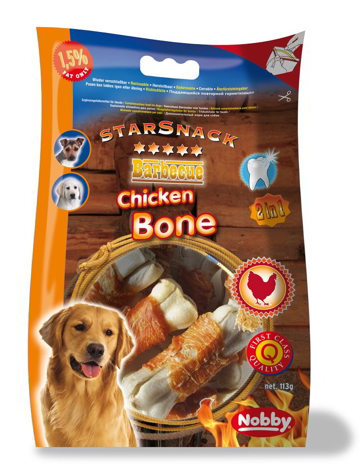 Nobby StarSnack Barbecue kostičky s kuřecím masem 193g