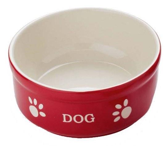 Nobby DOG miska červeno-béžová 12,0 x 3,7 cm