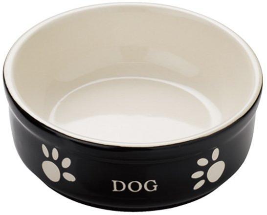 Nobby DOG miska černo-béžová 12,0 x 3,7 cm