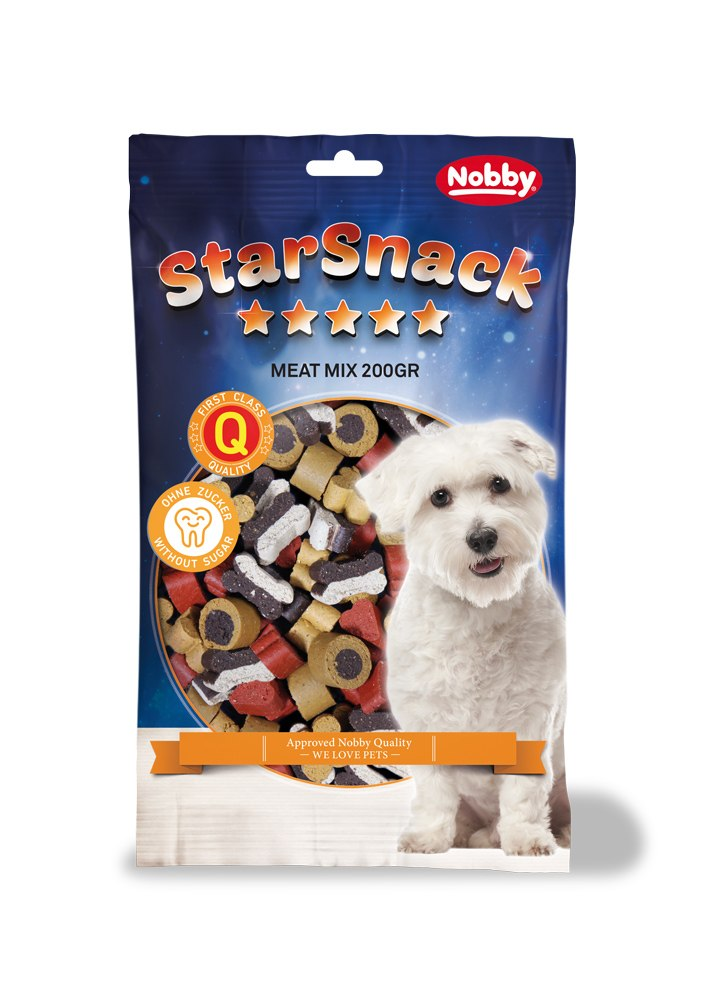 Nobby StarSnack Meat Mix pamlsek pro psa 200g