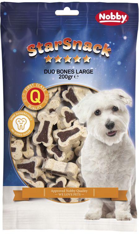 Nobby StarSnack Duo Bones velké kostičky jehně+rýže 200g