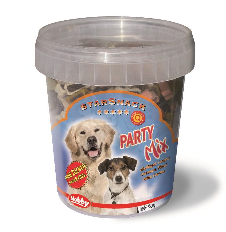 Nobby StarSnack Party Mix kyblík pamlsky pro psa 500g