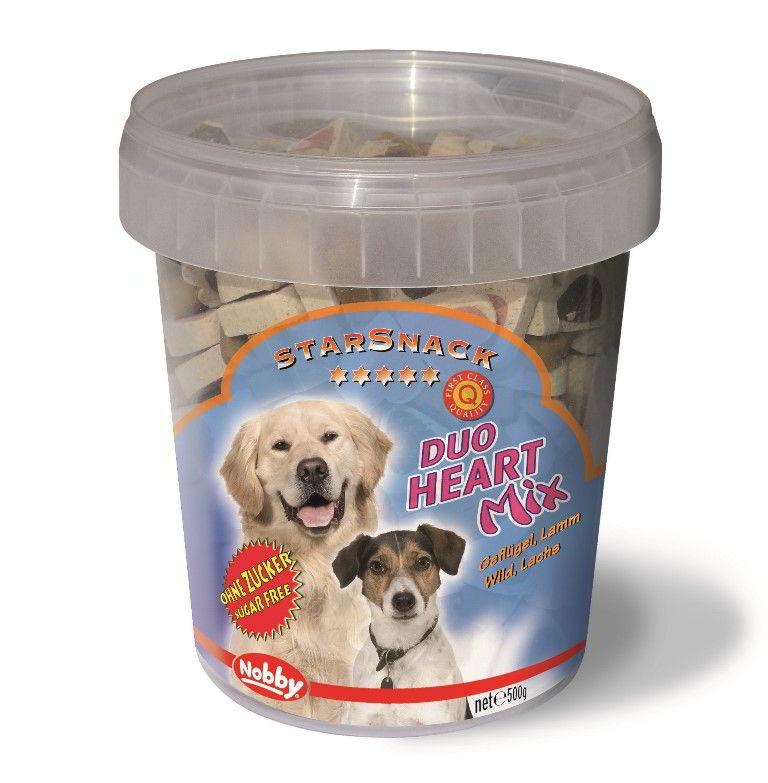 Nobby StarSnack Duo Heart Mix kyblík pamlsky pro psa 500g