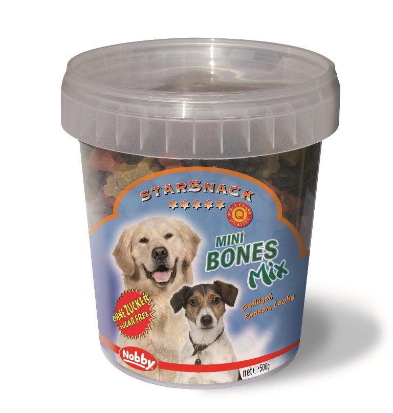 Fotografie StarSnack Mini Bones Mix kyblík odměny 500g