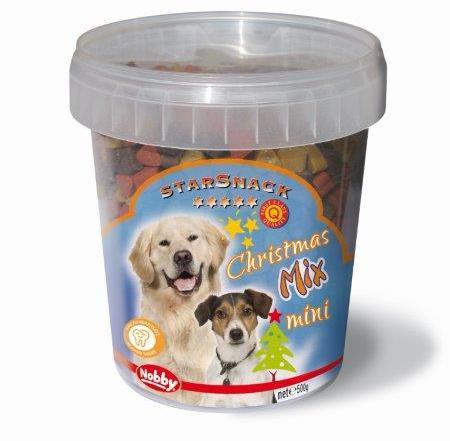 Nobby StarSnack vánoční pamlsky Mix Mini pro psy 500g