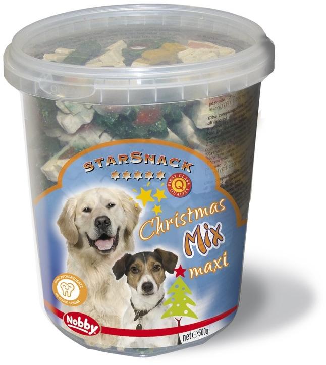 Nobby StarSnack vánoční pamlsky Mix Maxi pro psy 500g