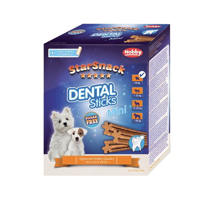 Nobby StarSnack Dental Sticks Mini dentální tyčinky pro psa 28ks / 252g