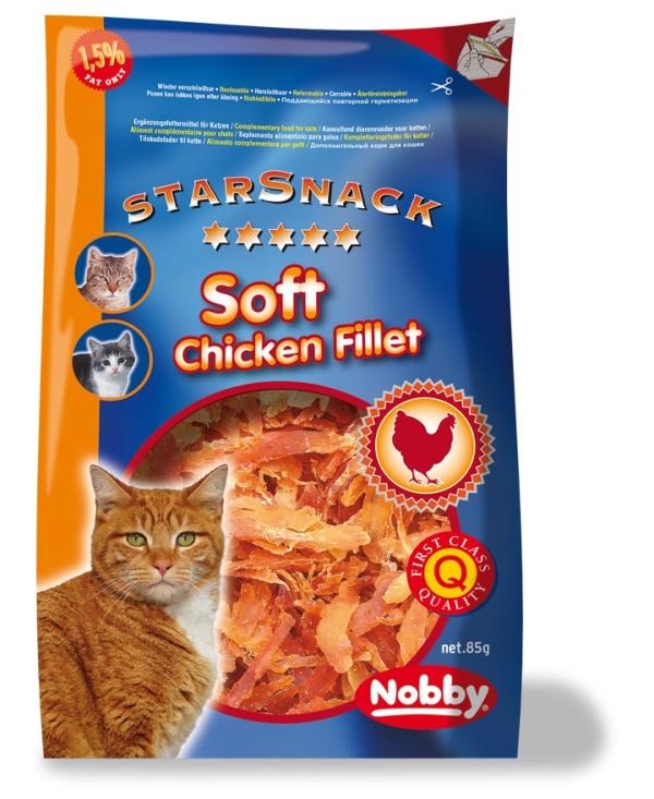 Nobby StarSnack pamlsky pro kočku sušené kuřecí kousky 85g