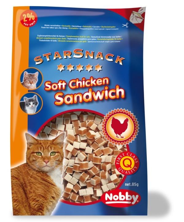 Nobby StarSnack pamlsky pro kočku kuře, losos 85g