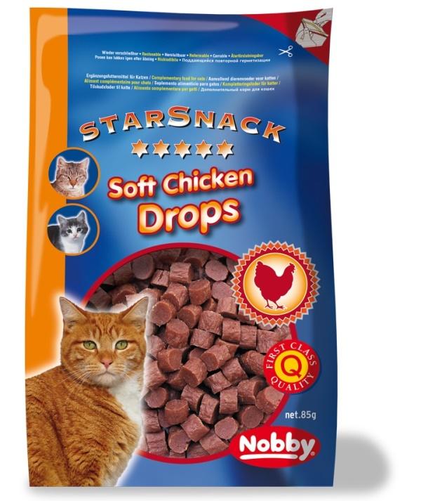 Nobby StarSnack pamlsky pro kočku kuřecí salámky 85g