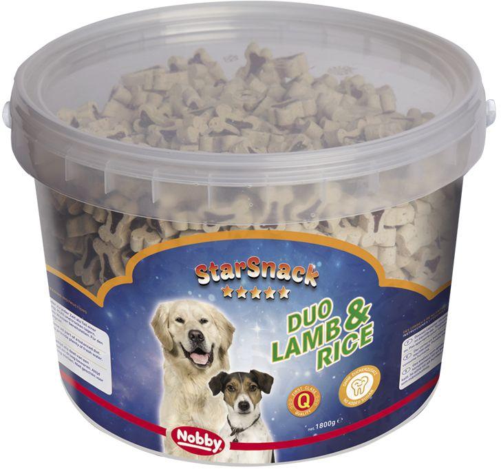 Nobby StarSnack Duo Lamb and Rice kyblík pamlsky 1,8kg