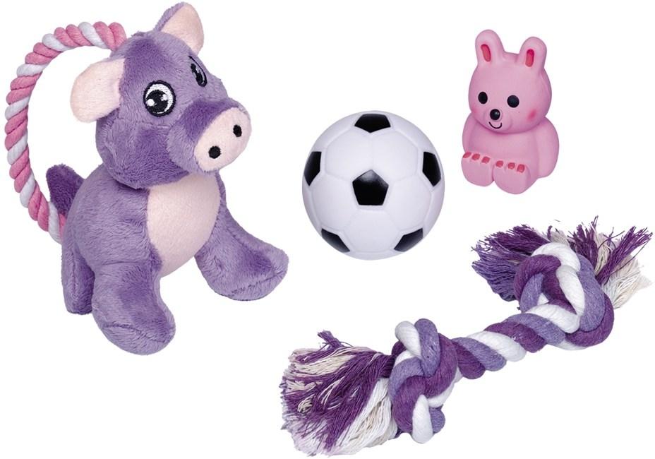 Nobby Puppy startovní set hraček pro štěňata 4 ks