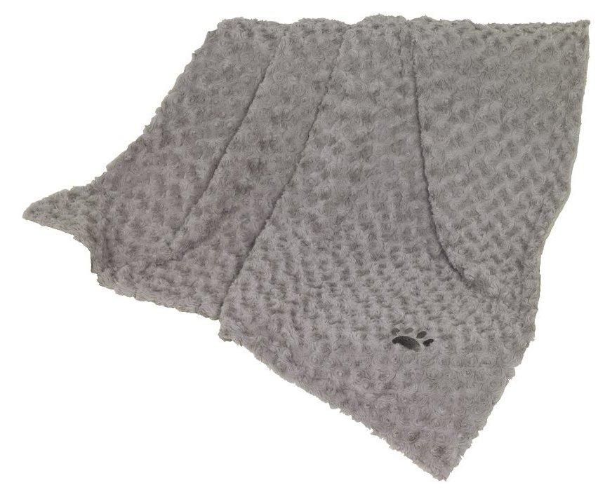 Nobby Super Soft fleecová měkká deka 100x150cm světle šedá