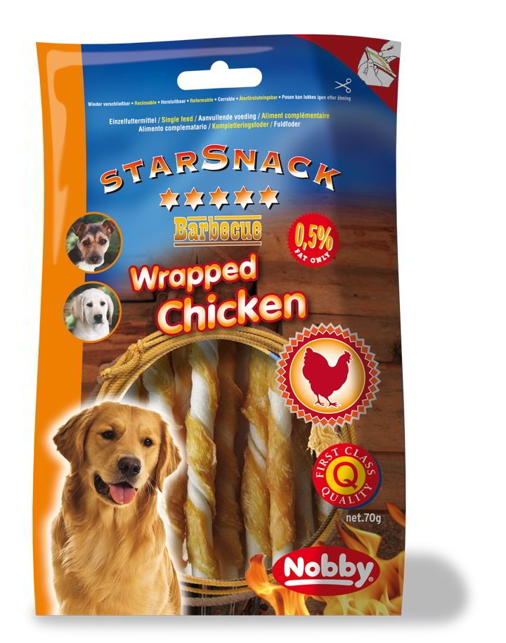 Nobby StarSnack Barbecue Wrapped Chicken 70g