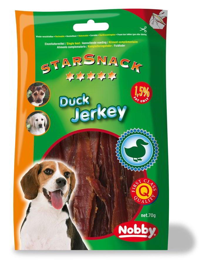 Nobby StarSnack Duck Jerkey sušené kachní svalovina 70g