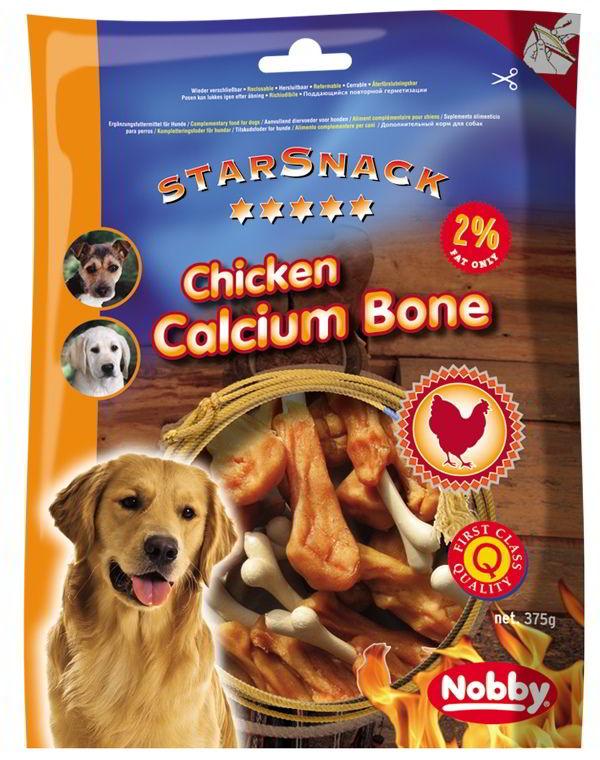Nobby StarSnack Chicken Calcium Bone kalciová kost s kuřetem 375g