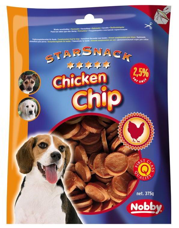 Nobby StarSnack Chicken Chip kuřecí dukátky 375g