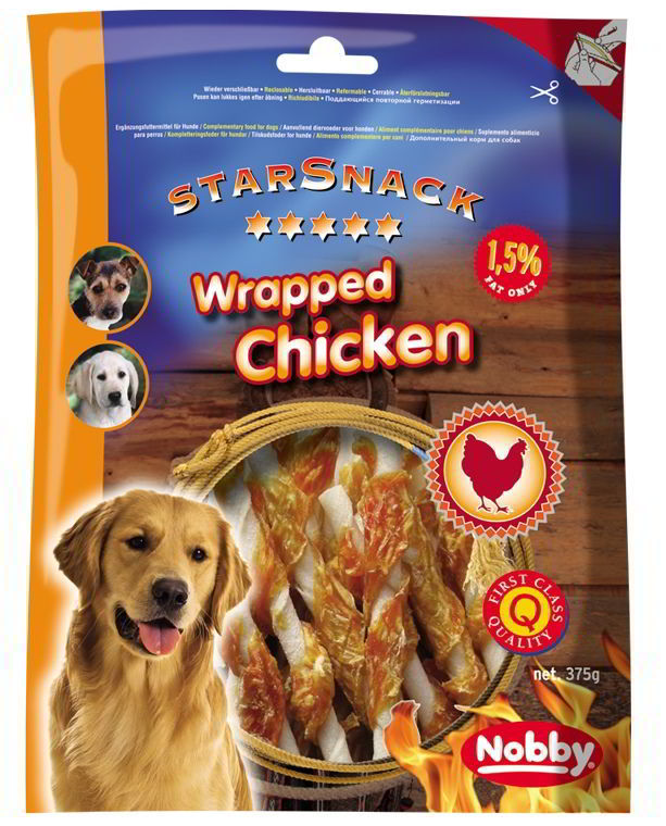 Nobby StarSnack Barbecue Wrapped Chicken 375g