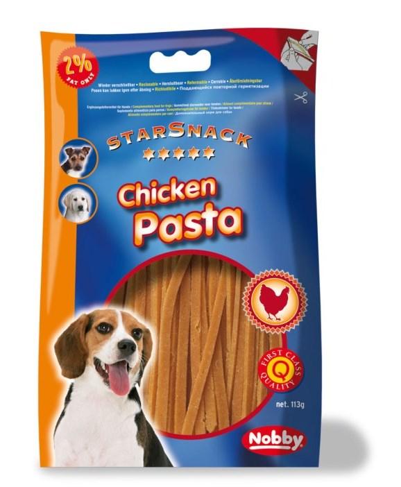 Nobby StarSnack Chicken Pasta kuřecí nudličky 113g