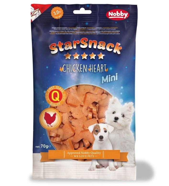 Nobby StarSnack Mini Soft Chicken Heart kuřecí pamlsky pro psy 70g