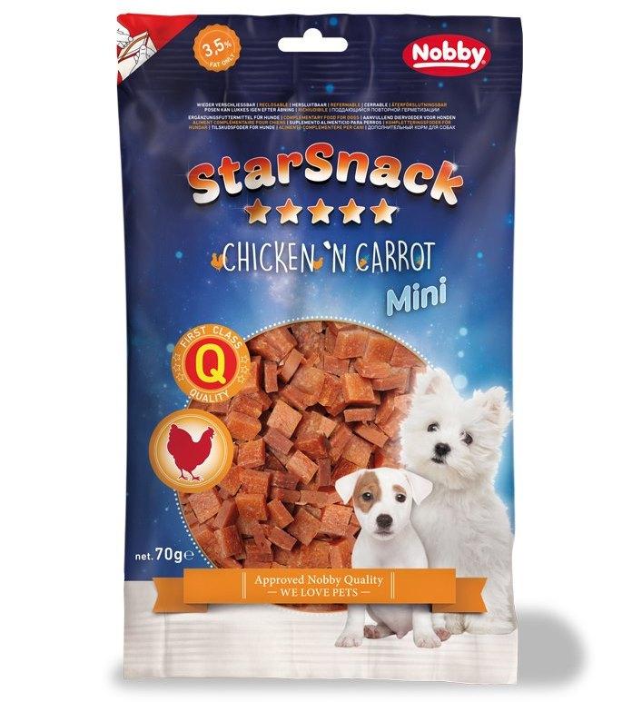 Nobby StarSnack Mini Soft kuře+mrkev pamlsky pro psy 70g