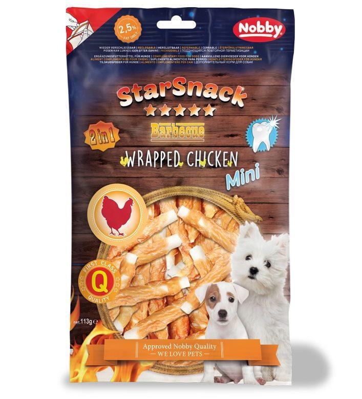 Nobby StarSnack Mini Wrapped kuřecí tyčinky pro psy 113g