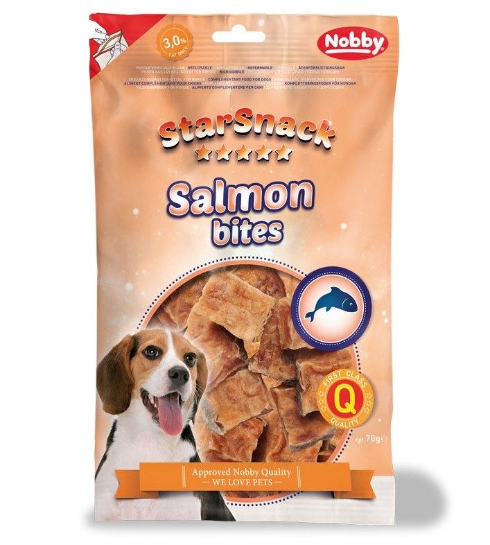 Nobby StarSnack Salmon Bites losos kousky 70g