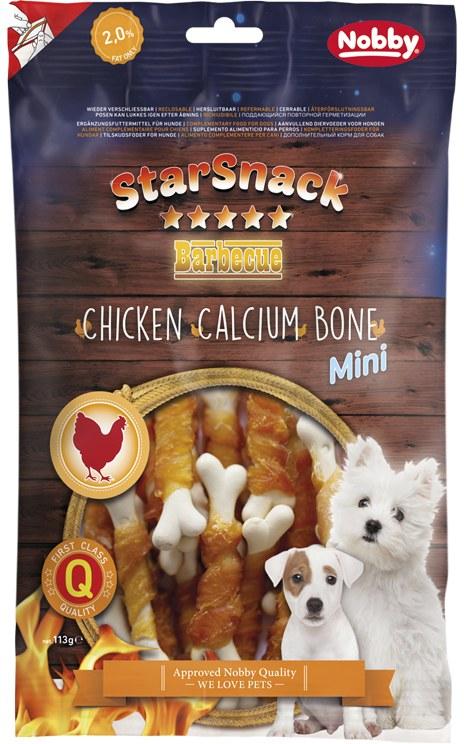 Nobby StarSnack BBQ Mini kalciová kostička s kuřetem 7cm / 70g