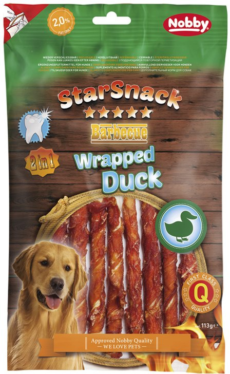 Nobby StarSnack BBQ Wrapped Duck pamlsky 113g