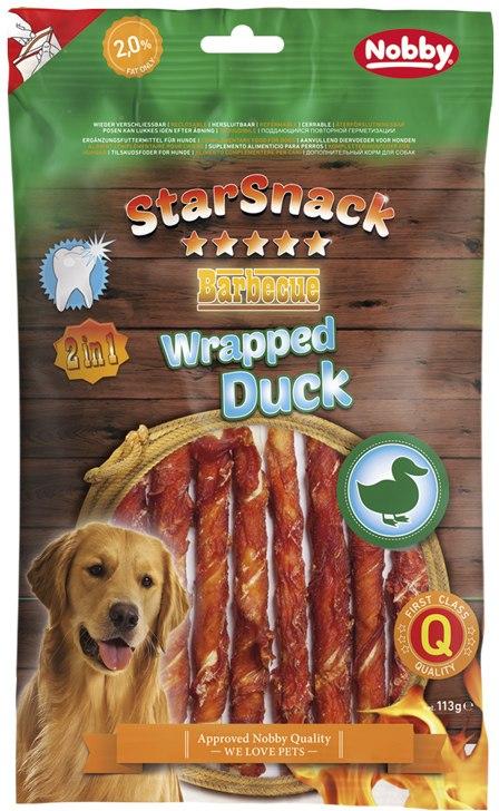 Nobby StarSnack Wrapped bůvolí tyčka s kachnou 113g