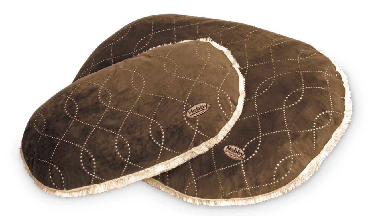 Nobby Ceno luxusní plyšový polštář hnědý 104x69cm