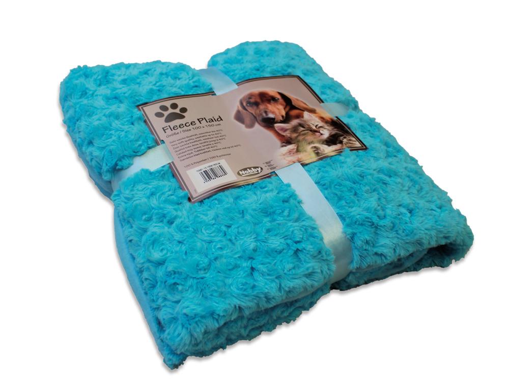 Nobby Super Soft fleecová měkká deka 100x150cm modrá
