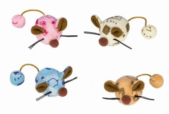 Nobby hračka plyšové myšky 6cm 2ks