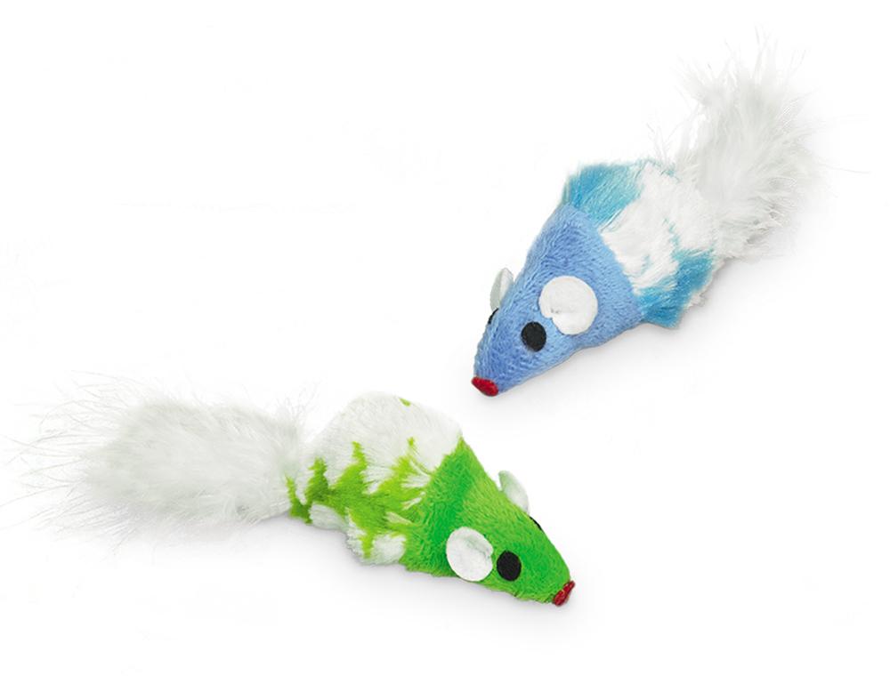 Nobby Catnip plyšové myšky s catnipem 7cm 2ks